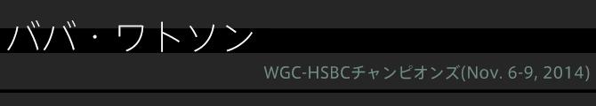 ババ・ワトソン(WGC-HSBCチャンピオンズ)